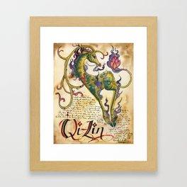 Qi-Lin Framed Art Print