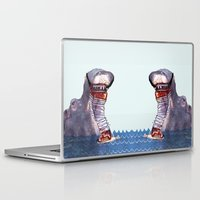 hippo Laptop & iPad Skins featuring Hippo by MGNFQ