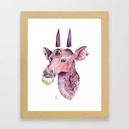 Young biche Framed Art Print