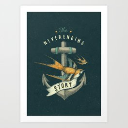 Anchor | Petrol Grey Art Print