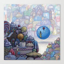 Wishing Well Visitor Canvas Print