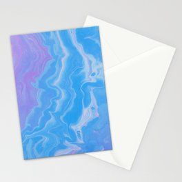 Lavender & Blue Watercolor Stationery Cards