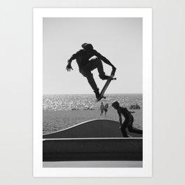 Skateboard Freedom Art Print