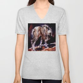 Foal Scratches  Unisex V-Neck