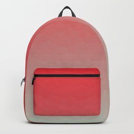 Red & Gray Crystalized Ombre Backpack