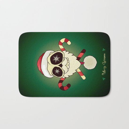 Santa skull Bath Mat