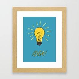 Idea! Print with a lamp bulb Framed Art Print