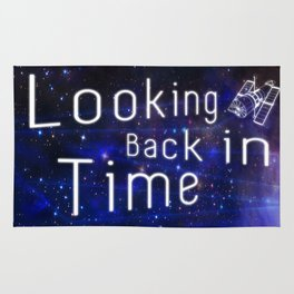 Looking Back in Time Infographic Rug