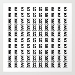 BS cubes Art Print