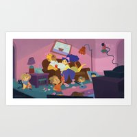 simpsons Art Prints featuring The Simpsons by Ann Marcellino