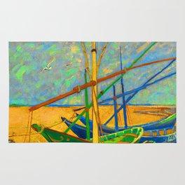 Fishing Boats Rug