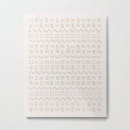 Mud Cloth in Creamy Metal Print