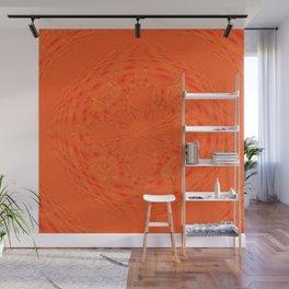 Bright Orange Wall Mural