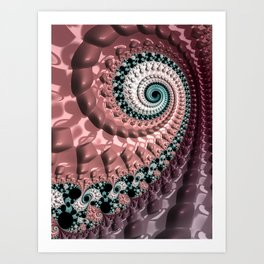 Lumpy Snail Art Print