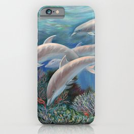 Happy Family - Dolphins Are Awesome iPhone Case