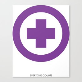 everyone counts Canvas Print
