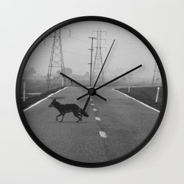 Coyote on the Levee Wall Clock