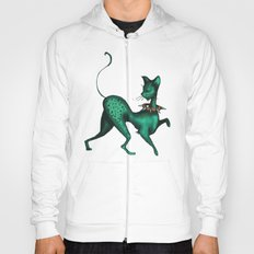 Green Spotted Kitty Hoody