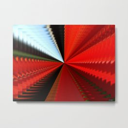 Sunny interval in red tunnel Metal Print
