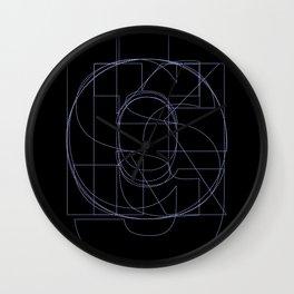 Die Neue Haas Grotesk (B-03) Wall Clock