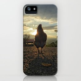 Lucky chicken at the farm iPhone Case