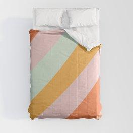 Summer Sorbet Pastel Curved Stripes Comforters