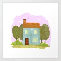 House #1 Art Print