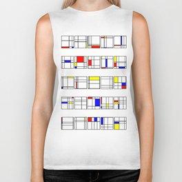 """Math Art Digital Print - """"mondRian"""" Biker Tank"""