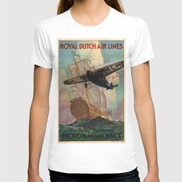 Vintage poster - Royal Dutch Airlines T-shirt