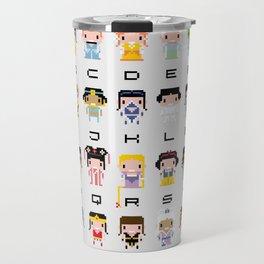 Princess Alphabet Travel Mug