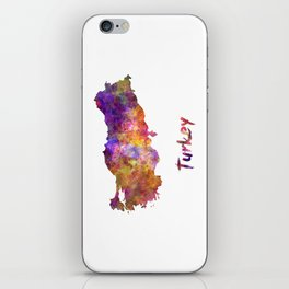 Turkey in watercolor iPhone Skin