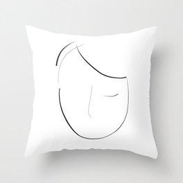 """She sleeps"" Throw Pillow"
