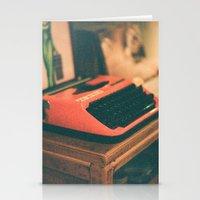 typewriter Stationery Cards featuring Typewriter by Cheryl Cha-Cyn
