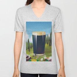 Beer In the Landscape, Unisex V-Neck
