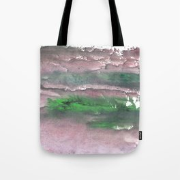 Purple green cloud Tote Bag