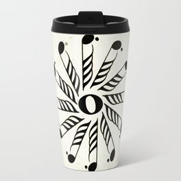 Vignette music note mandala Travel Mug