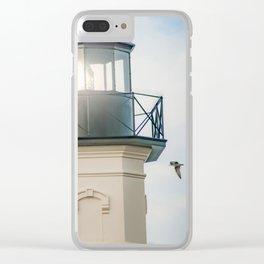 """Block Island Lighthouse"" by Murray Bolesta Clear iPhone Case"