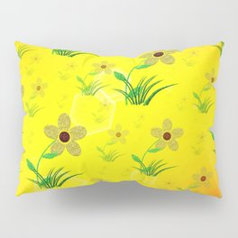 flower,abstract pattern in metal Pillow Sham