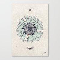 fibonacci Canvas Prints featuring Fibonacci by Jennifer Thy