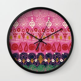 lotus block pink Wall Clock