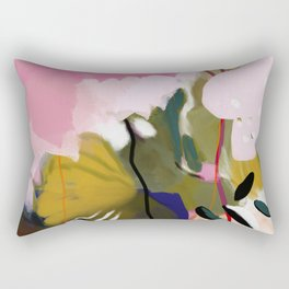 abstract jungle leaves Rectangular Pillow