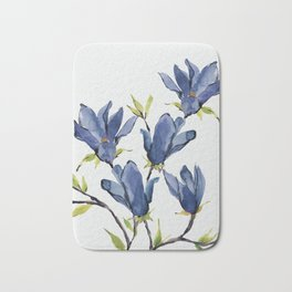 Blue Flowers 3 Bath Mat
