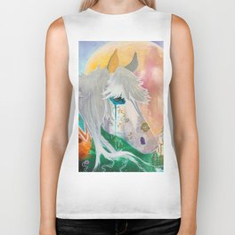 You and me - Horses - Animal - by LiliFlore Biker Tank