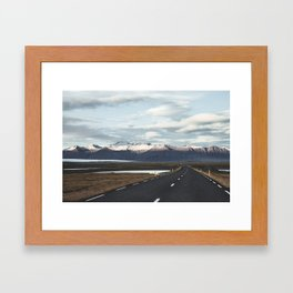 Road Trip in Iceland. || Roads that Lead to the Mountains. || MadaraTravels Framed Art Print