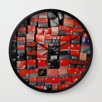nike Wall Clocks featuring Vintage Nike Boxes by Mark B.