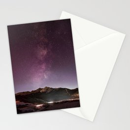 Milky Way Landscape Stationery Cards