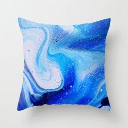 Space Blues Throw Pillow