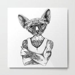 Sphynx Metal Print