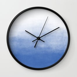 Ombre Paint Color Wash (sky blue/white) Wall Clock