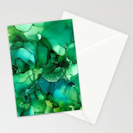 Into the Depths of Sea Green Mysteries Stationery Cards